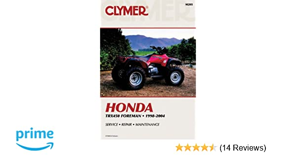 Honda trx450 foreman 1998 2004 atv vendor id m205 penton staff honda trx450 foreman 1998 2004 atv vendor id m205 penton staff 9780892878963 amazon books fandeluxe Gallery