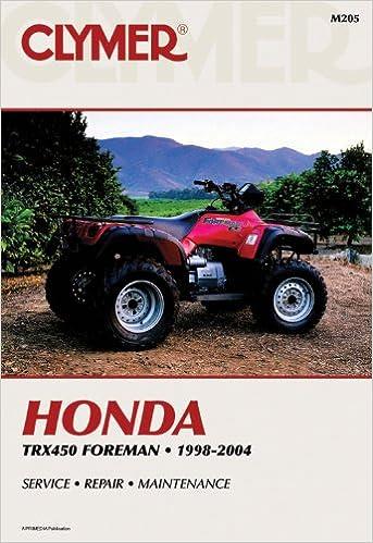 honda foreman 450 service manual repair 1998 2004 trx450