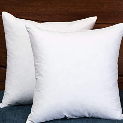 Amazon Set Of 40 40X40 Square Decorative Throw Pillows Down Classy 18x18 Down Pillow Insert