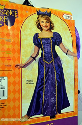 Renaissance Faire : Purple Princess Costume, Small Us Size 4-6 (Age 3-4) -