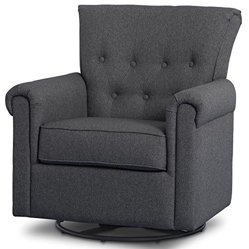 (Delta Children Harper Glider Swivel Rocker Chair, Charcoal)