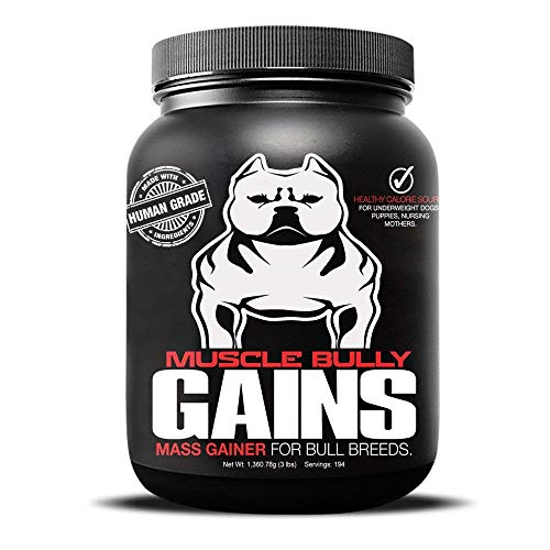 Muscle Bully Gains - Mass Weight Gainer, Whey Protein for Dogs (Bull Breeds, Pit Bulls, Bullies) Increase Healthy Natural Weight, Made in The USA (388 Servings (Kennel Size))