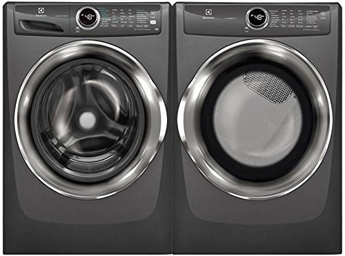 Electrolux Titanium Front Load Laundry Pair with EFLS527UTT 27″ Washer and EFME527UTT 27″ Electric Dryer