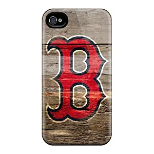 Premium [Mea2806mnoY]boston Red Sox On Wood Hd Case For Iphone 4/4s- Eco-friendly Packaging