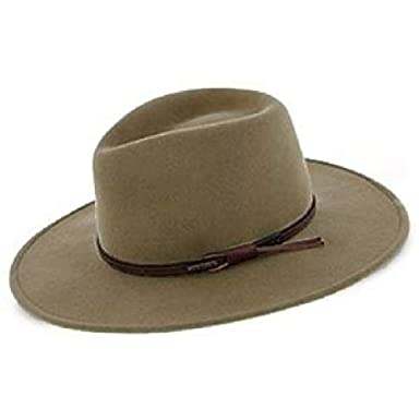 406754f6 Stetson Bozeman Crushable Outdoor Wool Felt Hat, Mushroom (Medium (7-7 1
