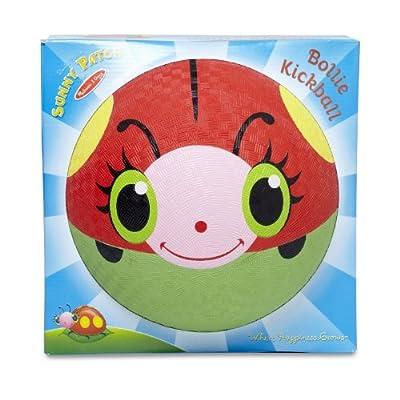 Melissa & Doug Sunny Patch Bollie Ladybug Classic Rubber Kickball: Melissa & Doug: Toys & Games