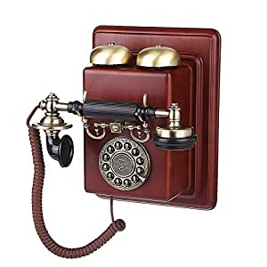 fx european antique wall mounted telephone vintage wood plane high end mechanical. Black Bedroom Furniture Sets. Home Design Ideas