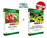 Simply Supplements Goji Berry Extract 2000mg 120 Capsules + Green Coffee Bean & Raspberry Ketones Complex 60 Capsules | Slimming pack by SimplySupplements