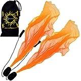 Angel Poi Spiral Poi- Practice Poi (Orange) by Flames N Games + Travel Bag!