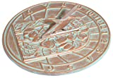 Whitehall Products Hummingbird Sundial, Copper Verdi