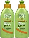 Garnier Fructis Sleek & Shine Anti-Humidity Smoothing Milk, 5.1 oz, 2 pk