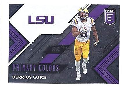 3537c5bbf DERRIUS GUICE 2018 Panini Elite Draft Picks Primary Colors  5 Football  Rookie Card RC LSU