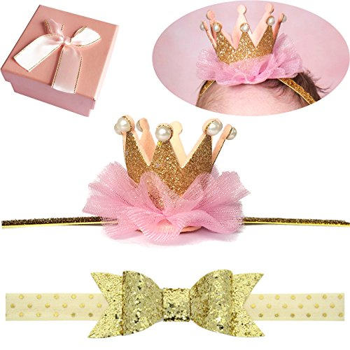 Shiny Bow Crown Tiara Headband