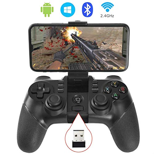 Wireless Controller Video Game - Auimi 2.4G Wireless Game Controller Bluetooth Gaming Gamepad Joystick for Android Phone/ PC Windows/ Tablet/ Smart TV/ TV Box/ PS3 - Android
