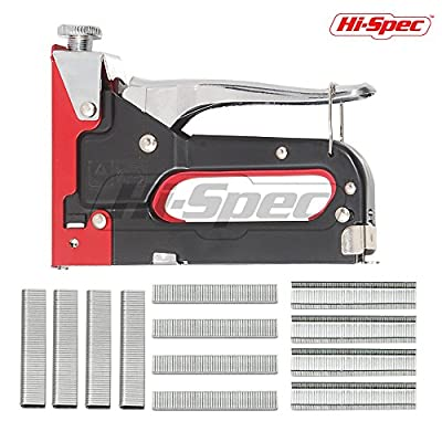 Hi-Spec 2-in-1 Home DIY Steel Staple & Nail Gun Set for Fixing Material, Re-Upholstering Furniture, Decorating, Repairing Decorations, Attaching Fabric to Walls, Attaching Plywood
