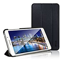 Tab 4 7 Case, JETech® Gold Slim-Fit Smart Case Cover for Samsung Galaxy Tab 4 7 (7.0 inch) Tablet (Black)