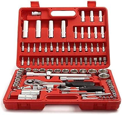 PetHot Maletín de Herramientas y Juego de herramientas de caja de Destornillador Torx Ratchet 1/2 y 1/4 Pulgada 94 Piezas: Amazon.es: Bricolaje y herramientas