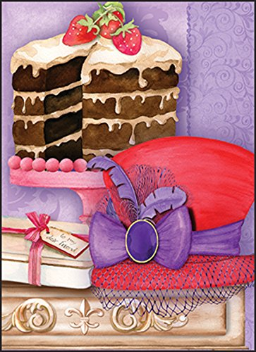 Red Hat Ladies Society Blank Note Cards 10 ct Package w/Envelopes Hat and Cake Made in USA
