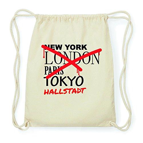 JOllify HALLSTADT Hipster Turnbeutel Tasche Rucksack aus Baumwolle - Farbe: natur Design: Grafitti