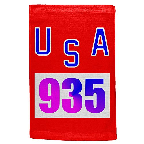 Bruce Jenner Costume (Team Bruce Jenner USA 935 Olympic Costume All Over Hand Towel Multi Standard One Size)