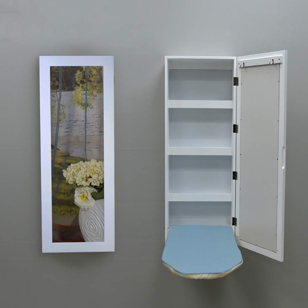 アイロン ボード キャビネット, 壁マウント アイロン 鉄のストレージ 隠れる 倍離れてルーティング ドア インストールするのには壁にカットします。 壁には鏡-ホワイト H95xW36.5xD17.5cm(37x14x7inch) B07J45Q6KB ホワイト H95xW36.5xD17.5cm(37x14x7inch)
