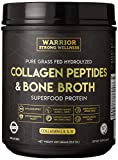 Collagen Peptides & Bone Broth by Warrior Strong Wellness: Pure Grass-Fed Hydrolyzed Collagen Powder Boost for Healthy Skin, Nails, Hair, Joints, Muscles & Digestion, Keto Friendly, Unflavored Larger Image
