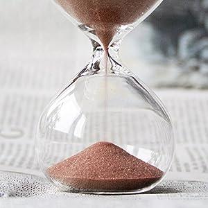 Biloba 4.8 pulgadas de arena de soplo Timer/Hourglass 30 minutos - Cocoa Color Sand - Inspired Glass/Inicio, Escritorio, Decoraci¨®n de Oficina 5
