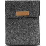 MoKo Sleeve for Kindle Paperwhite/Kindle Voyage, Protective Felt Cover Pouch Bag for Amazon Kindle Paperwhite 2018 / Voyage/All-New Kindle(8th Gen, 2016) / Kindle Oasis 6-Inch E-Reader, Dark Gray