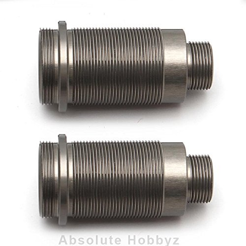 Team Associated Front 16x25mm Threaded Shock Bodies, Aluminum (2)