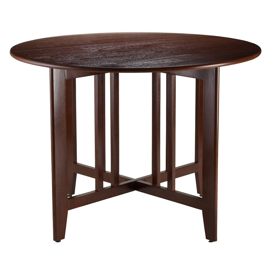 "Wood & Style Premium Décor Double Drop Leaf Round 42"" Table Mission"