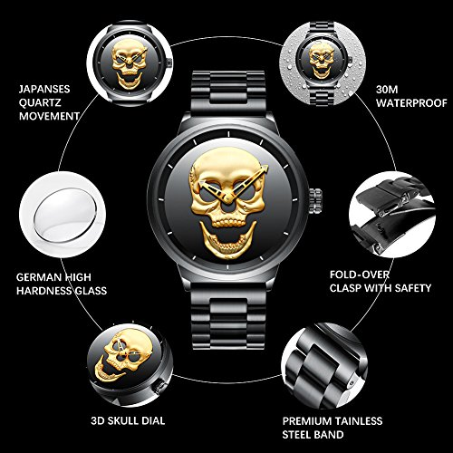 Mens-Black-Big-Face-Watches-Men-30M-Waterproof-Large-Luxury-Stainless-Steel-Watch-with-Gold-Dial-for-Men