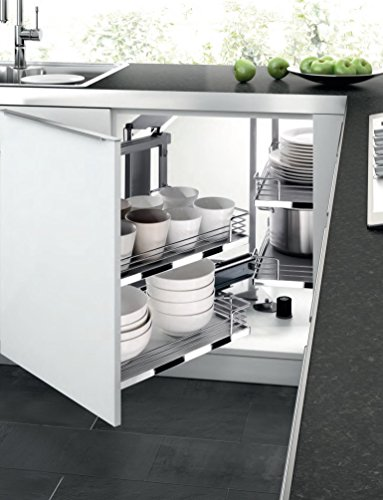 Blind Corner Kitchen Cabinet Pull-Out 2-Tier 4-Shelves So...