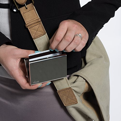 Best RFID Blocking Wallet for Men and Women, Safe and Secure Protection for Travel and Work, Includes Inserts for credit cards, business cards, and driver license, Security in your pocket, Top Stainless Steel Metal Slim Wallets