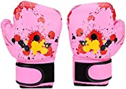 Kids Boxing Gloves, PU Children Sparring Punching Punch Training Gloves Fight Mitts for 2-11 Years Old