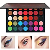 Beauty Glazed 35 Colors Eyeshadow Palette Matte and Shimmer,Waterproof Long Lasting Eye Shadow Powder,Ocean Nature Warm Smoky Colour Neutral Tone Cosmetics Pallet Pigment Eye Shadow Cosmetic