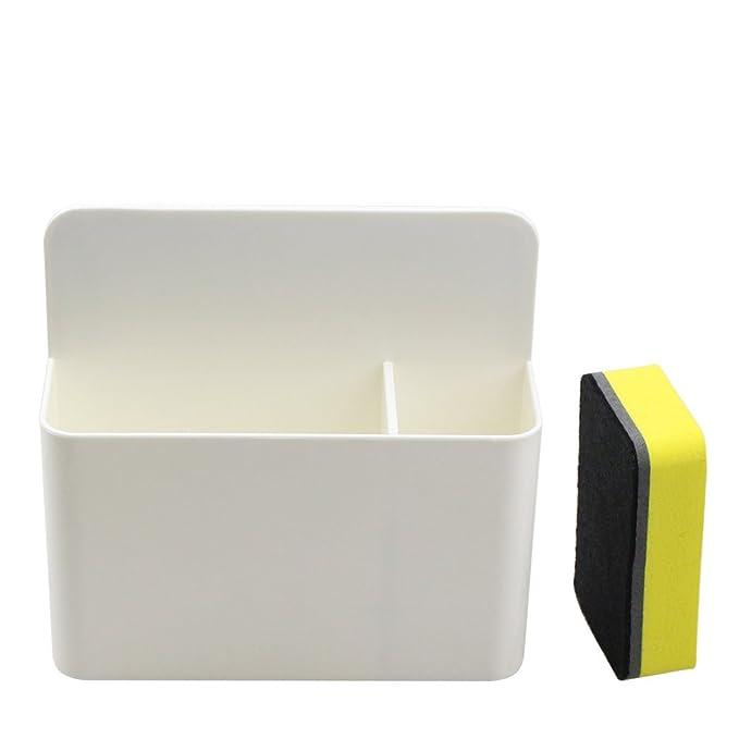 Soporte de marcador magnético para pizarras blancas, organizador de goma seca magnética, soporte para bandeja de montaje, potentes imanes de neodimio, ...