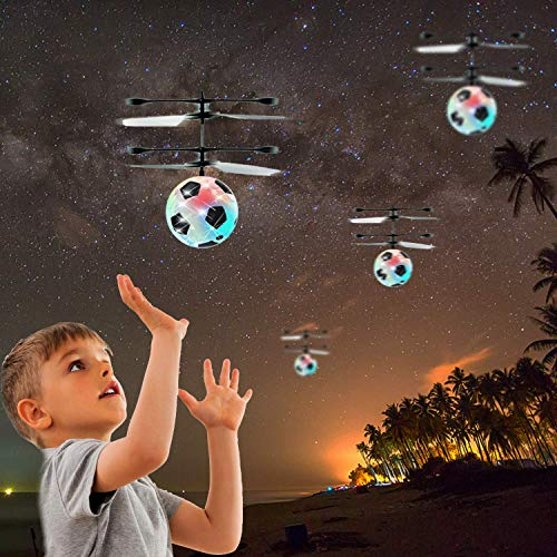 Flying Ball Drone, Kids Flying Toys Boys Girls Light Up Ball Drone RC Infrared Induction Helicopter with Remote Controller UFO Aircraft Toys Games Toys for 1 2 3 4 5 6 7 8 9 10 Year Old Indoor Outdoor by AMENON (Image #8)