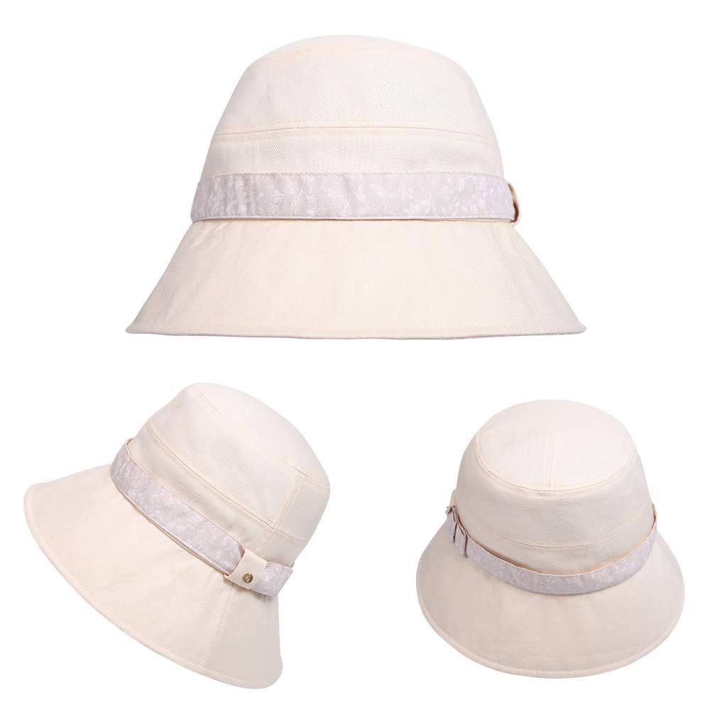 677888 Womens Summer Sun hat Adjustable Wide hat Beach hat Suitable for 55-60cm