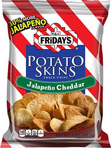 TGI Friday's, Potato Skins Snack Chips Jalapeno Cheddar 3 oz. (6 Count)
