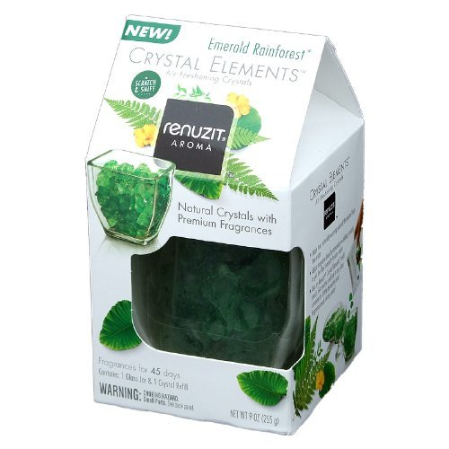 Air Rainforest Freshener (Renuzit Aroma Crystal Elements Air Freshing Crystals Emeralde Rainforest (Pack of 1))