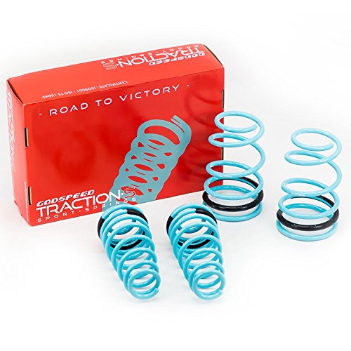 Godspeed(LS-TS-FD-0003-A) Traction-S Performance Lowering Springs, Set of 4, Ford Mustang 2005-10 (Ford Mustang Lowering Springs)