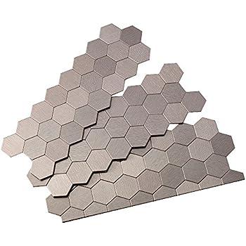 Aspect Peel and Stick Backsplash 11in x 4in Honeycomb