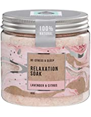 The Salt Box Magnesium Epsom Bath Salts - Relaxation & Pampering Bath Soak Body Spa with Lavender & Citrus 100% Natural Essential Oils 600g Self Care Gift