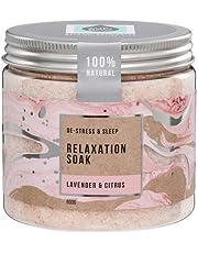 The Salt Box Relaxation Bath Salt Gift 600g - Relax & Pamper Bath Soak with Essential Oils