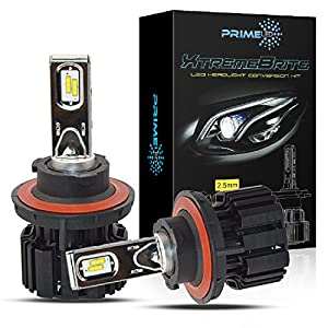 PrimeLED XtremeBrite LED Headlight Bulbs H13 ( 9008 ) -- 100w 13600Lm - 6K Cool White - 2 Yr Warranty (H13)