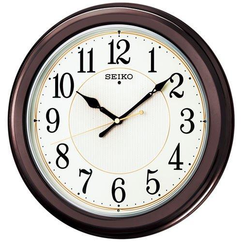(セイコークロック) SEIKO CLOCK ラウンドタイプ(丸型)電波壁掛け時計 KX385B 和室 洋室 茶色白 アナログ B00PN6LT6A