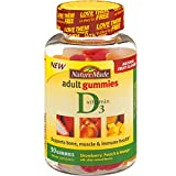 Nature Made Vitamin D 3 Adult Gummies Strawberry – Peach & Mango, 90 Gummies, 3 Count For Sale