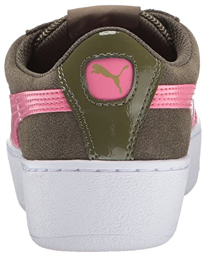 Puma Womens Platform Vikky Fashion Sneaker Olive Night-rapture Rose