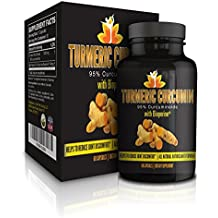Me First Living Premium Turmeric Curcumin 1000mg of 95% Curcuminoid With Black Pepper as Bioperine 10mg, 19x More Potent Than Others, Increased Bioavailability, Vegan, 60 Capsules