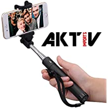 Selfie Stick/Palo para Selfies, plegable selfie Stick/Palo para Selfies extensible con integrado Wired disparador remoto para iPhone 6S, 6, 6PLUS, 5, 5S, 5C, Samsung Galaxy, color negro